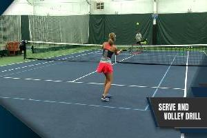The Serve And Volley Drill