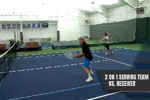 2 On 1 Serving Team Vs. Receiver Drill